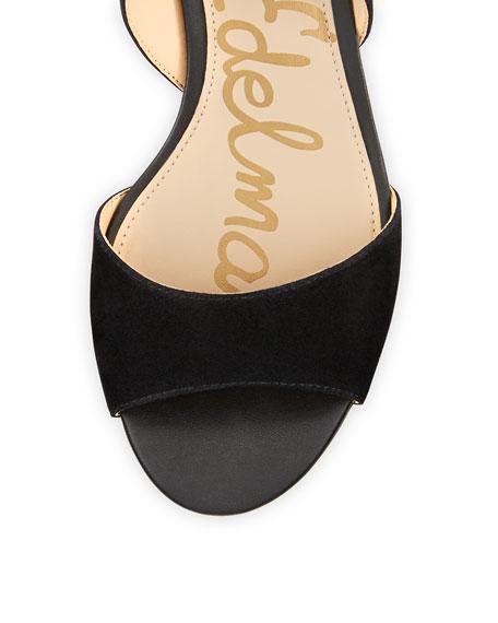 Serene Suede Lace-Up Sandal, Black