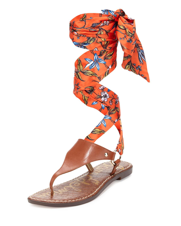 86befedaf05 Sam Edelman Giliana Floral Lace-Up Sandal