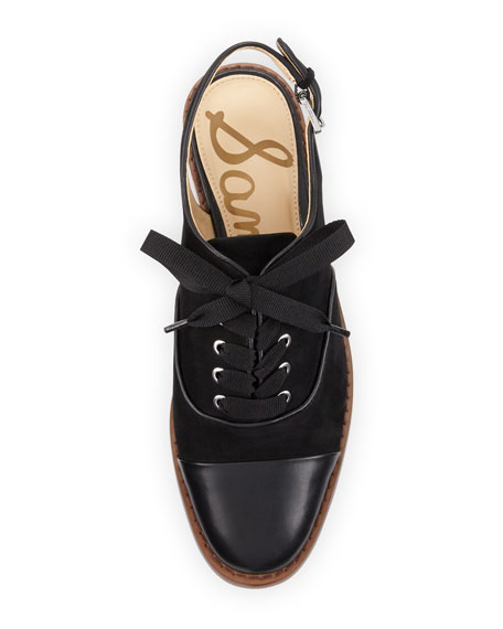 Damian Cap-Toe Slingback Oxford, Black