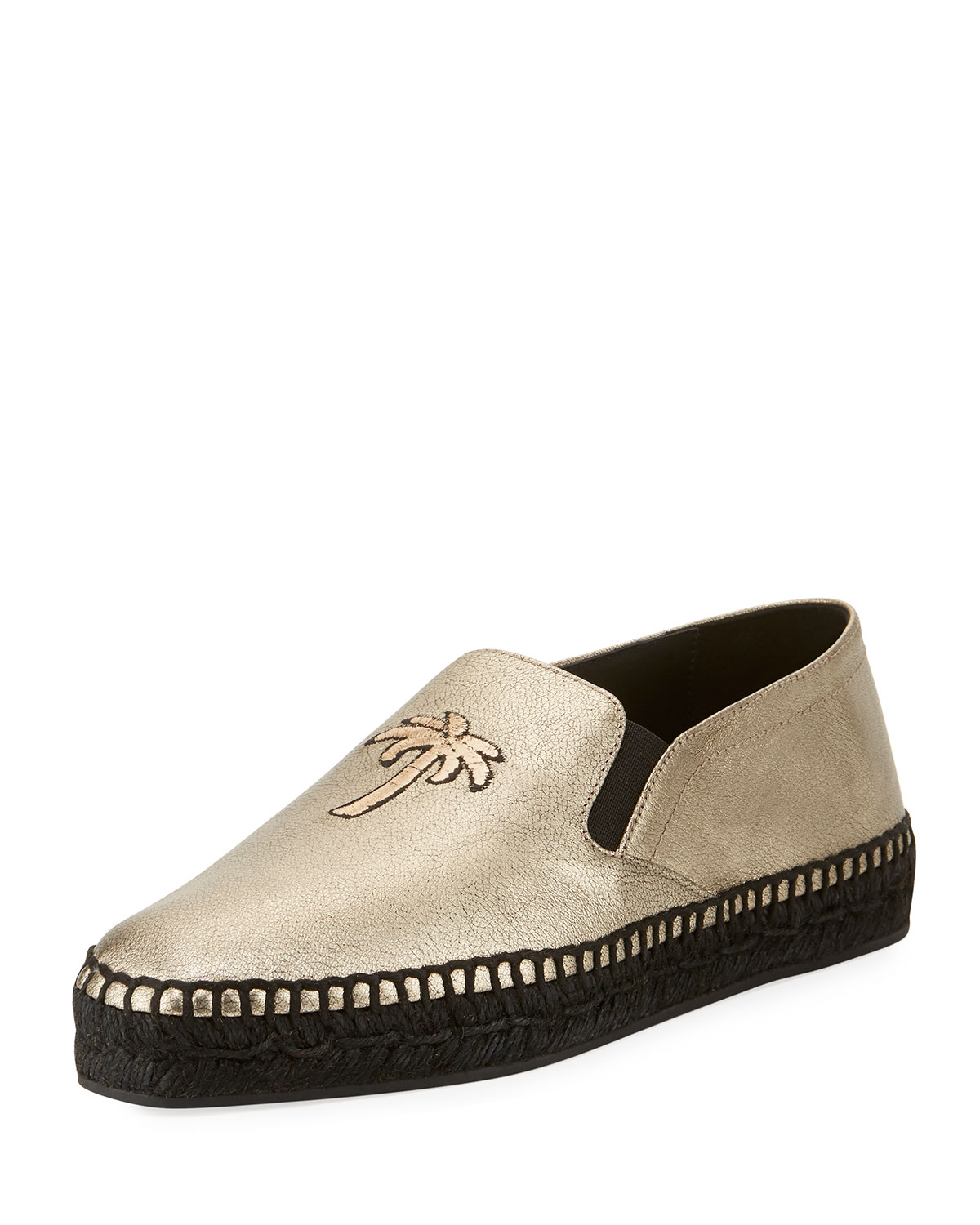 buy cheap how much outlet store cheap online Tomas Maier Metallic Palm Tree Espadrilles 4Lcdl