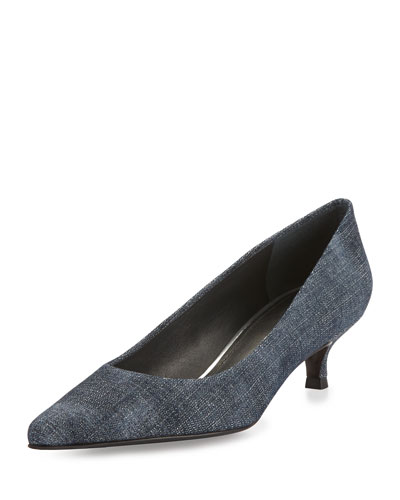 Navy Mid Heel Shoes Highstreet