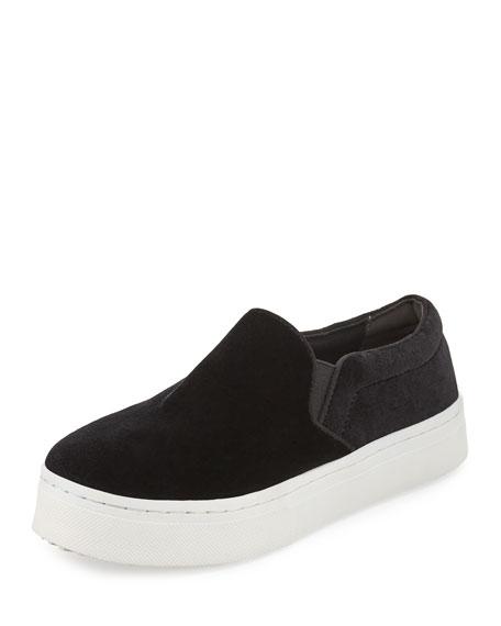 Lacey Velvet Skate Sneaker, Black