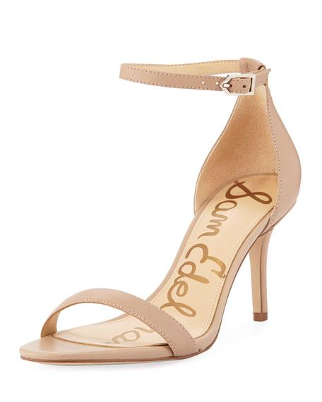 b75391b219a5 Sam Edelman Patti Patent Naked Sandals In Black Patent