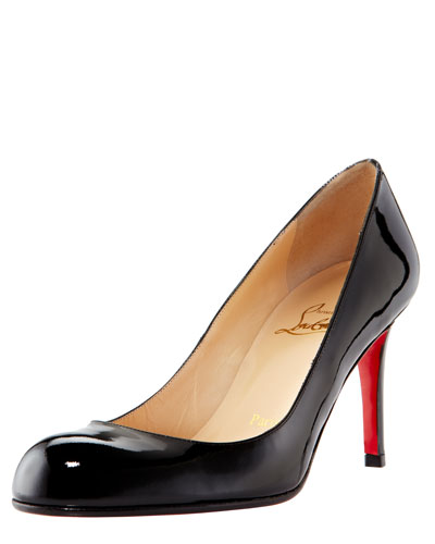 Simple Patent 85mm Red Sole Pumps