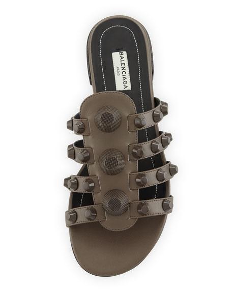 Studded Caged Flat Slide Sandal