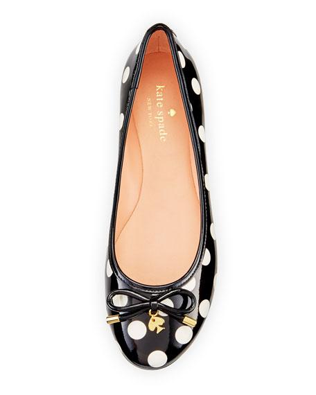 willa polka-dot Ballet Flat, black/white