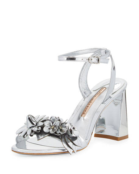 Sophia Webster Lilico Floral Leather 85mm Sandal