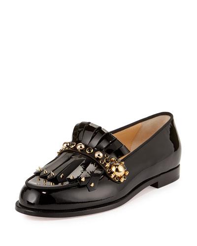 48e1a0ffbf4 Christian Louboutin Octavian Patent Kiltie Red Sole Loafer