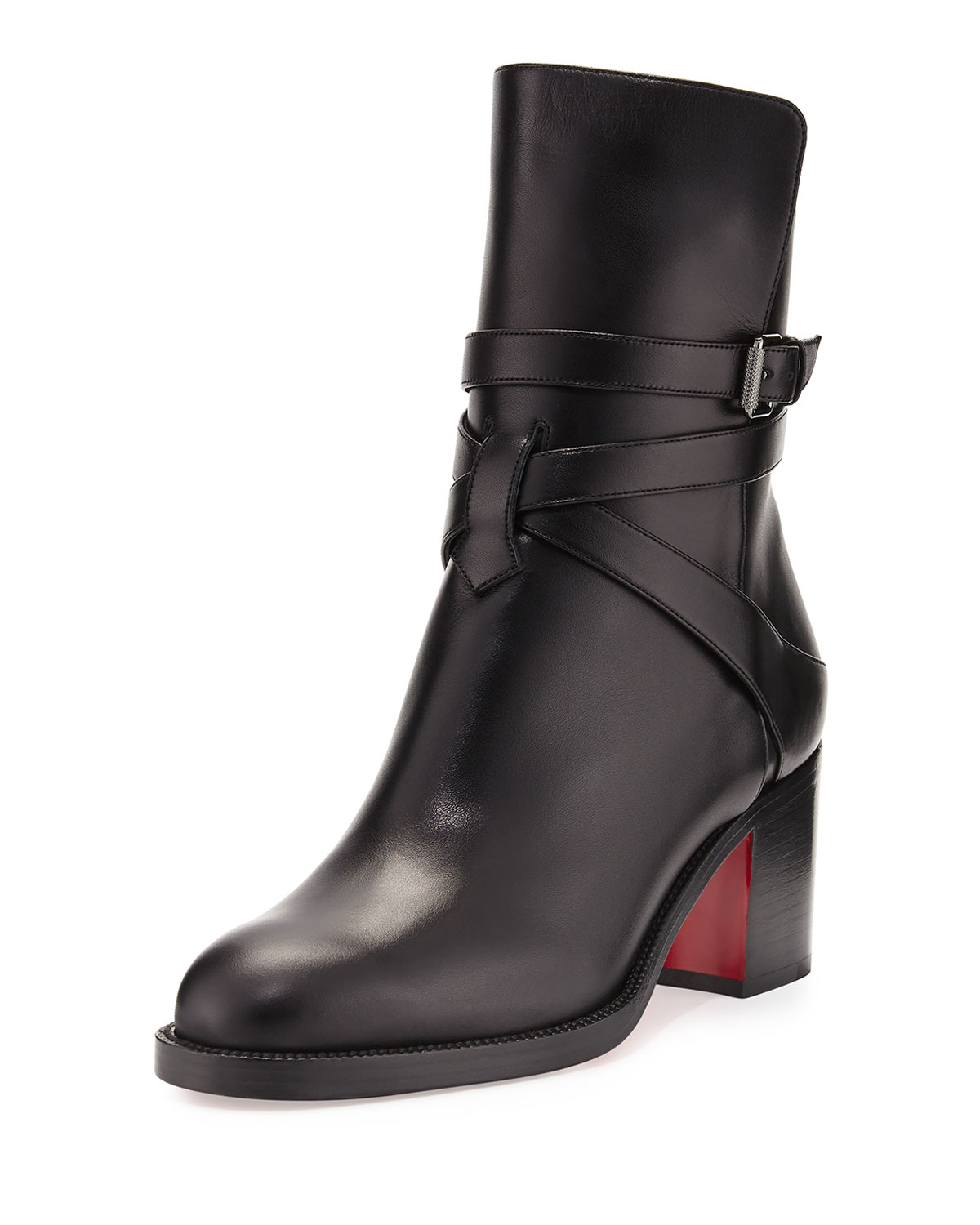 the best attitude 98b59 593e2 Karistrap Leather 70mm Red Sole Ankle Boot