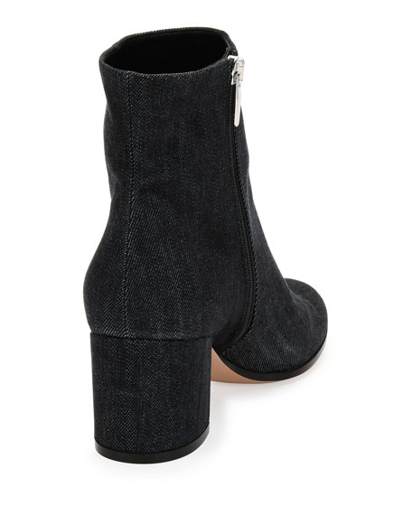 Margaux Denim Block-Heel Bootie