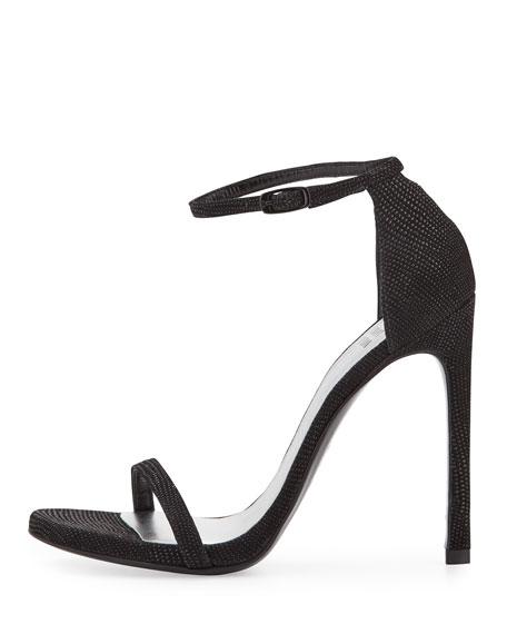 Nudist Goosebump Napa Sandals, Black