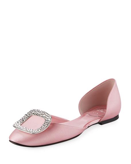 roger vivier pink flats
