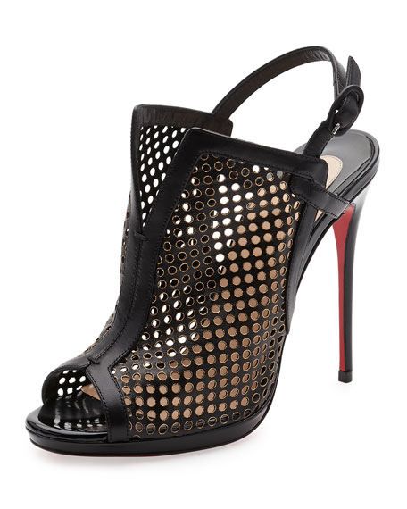 Christian Louboutin Escriminette Perforated 120mm Red Sole