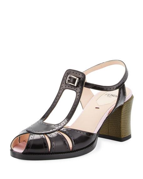 Fendi Chameleon Leather 70mm Sandal