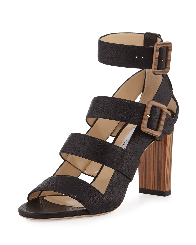 cd5a3b65cd1 Jimmy Choo Maya Leather 85mm Sandal