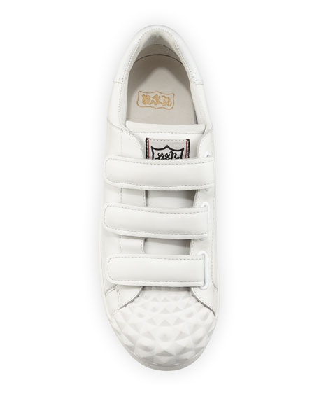 Club 3 Grip-Strap Sneaker, White
