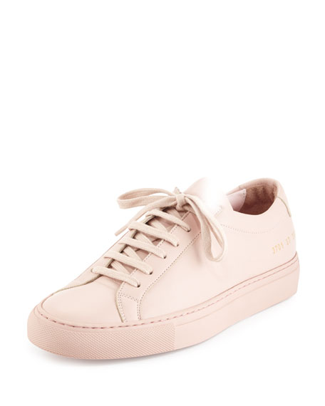 Common Projects Achilles Leather Low-Top Sneaker, Pink