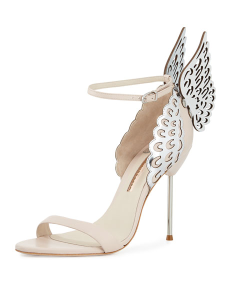 Sophia Webster Evangeline Angel Wing Sandal, Nude