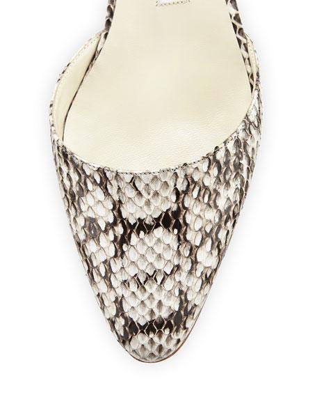 Aspro Snakeskin Slingback Pump, Roccia Black/White
