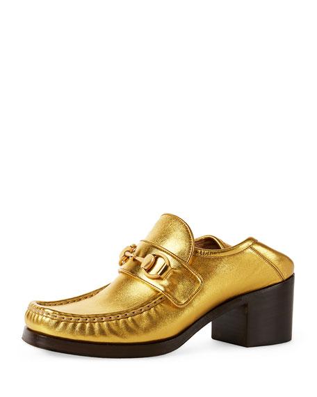 Vegas Horsebit 55mm Loafer, Gold