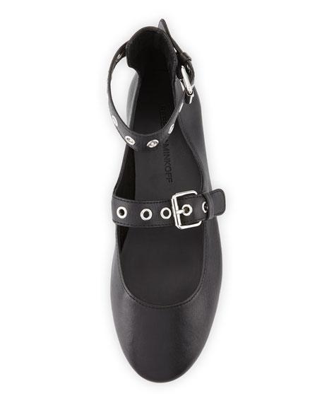 Rachel Grommet Ballerina Flat, Black