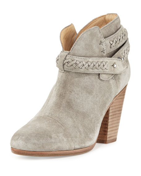 Rag & Bone Harrow Belted Suede Ankle Boot,