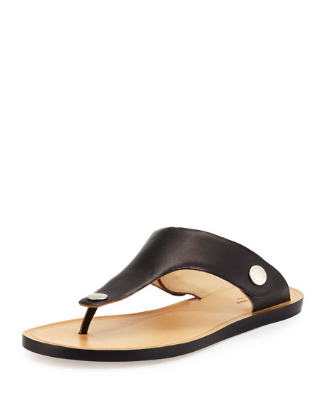 Rag & Bone Luna Flat Leather Thong Sandal,