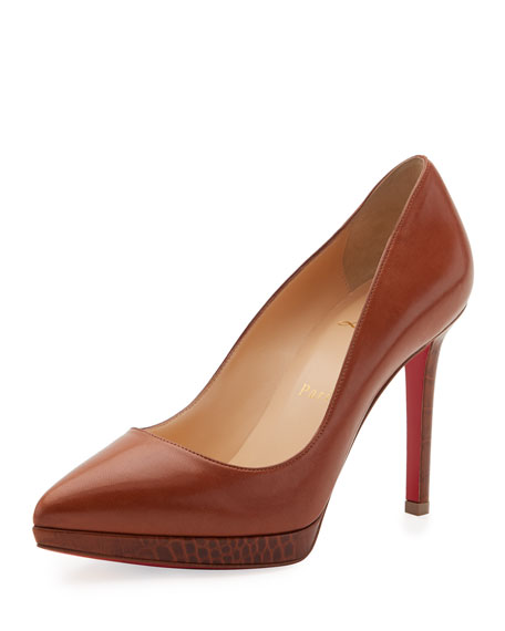 Christian Louboutin Pigalle Plato Napa 100mm Red Sole