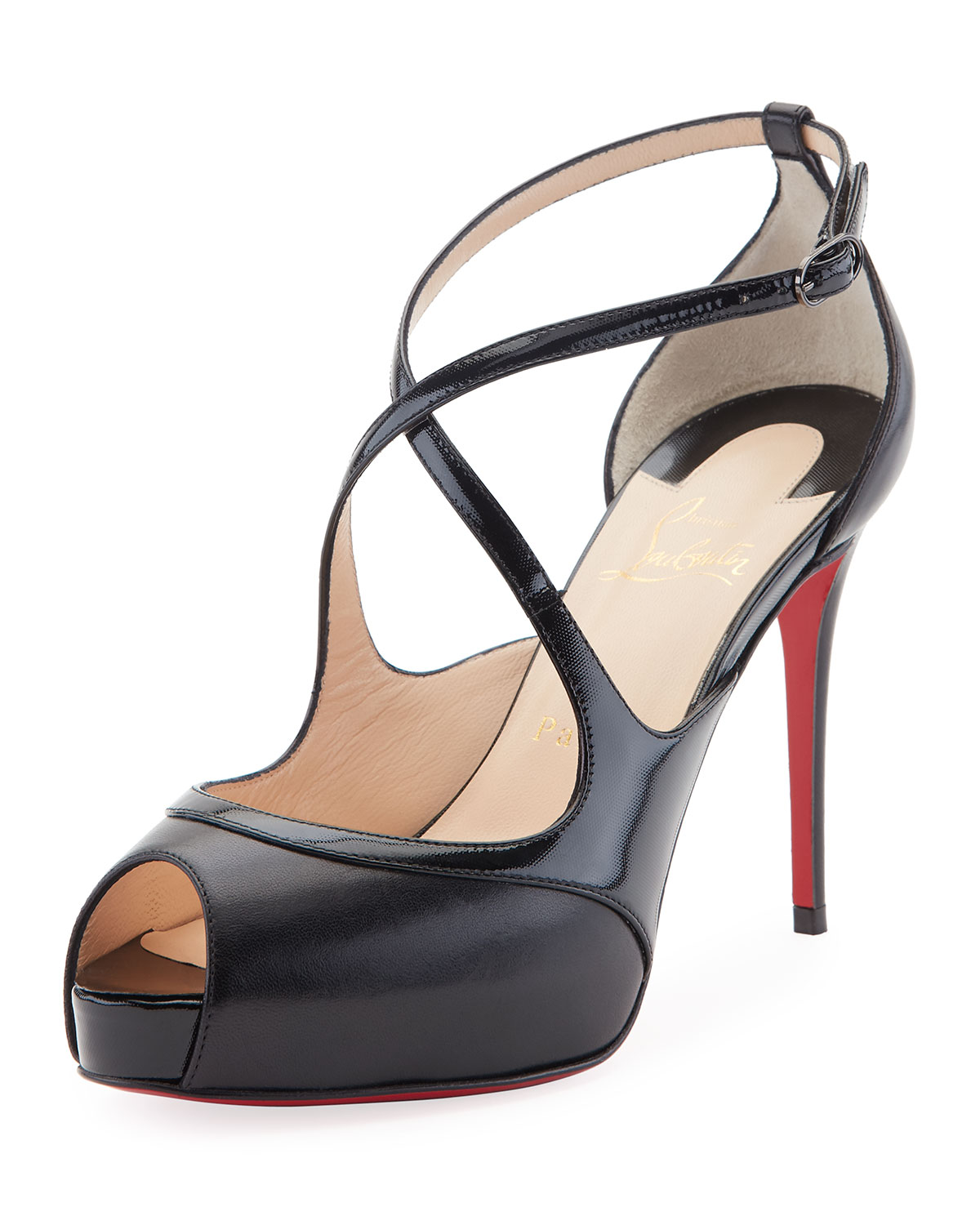 eac7189f3a5 Christian Louboutin Mira Bella Leather Red Sole Sandal