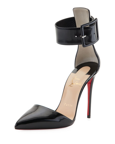 Christian Louboutin Harler d'Orsay Patent Red Sole Pump,