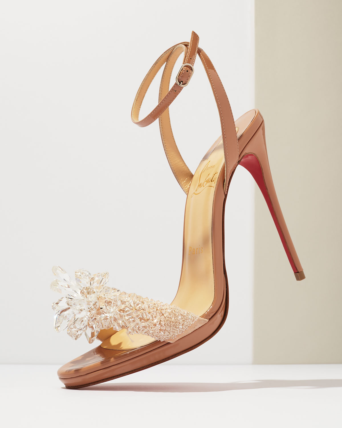 Christian Louboutin Crystal-Embellished Slingback Sandals sale choice websites sale online clearance limited edition JoNfun