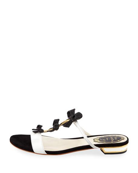 Embellished Bow Slide Sandal