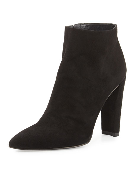 Hitimes Suede Chunky-Heel Bootie