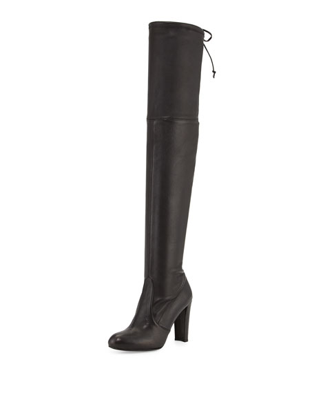 Highland Leather Over-The-Knee Boot, Black