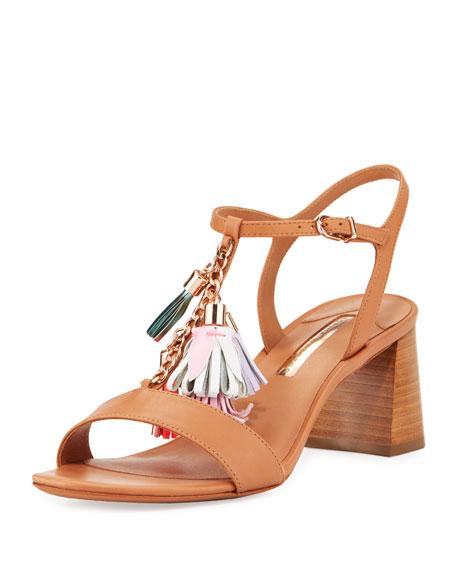 Sophia Webster Juno Tassel Mid-Heel Sandal, Luggage