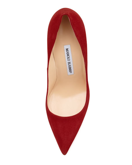 BB Suede 105mm Pump, Ruby