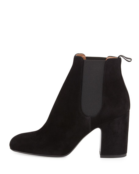Mia Suede 85mm Chelsea Boot, Black