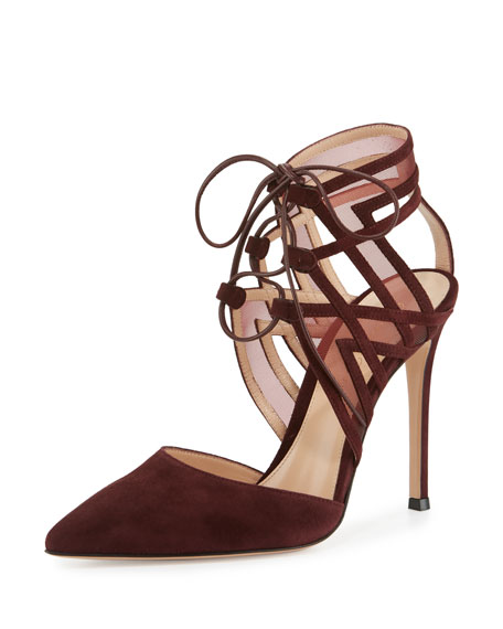 Adria Pointed-Toe d'Orsay Pump, Burgundy