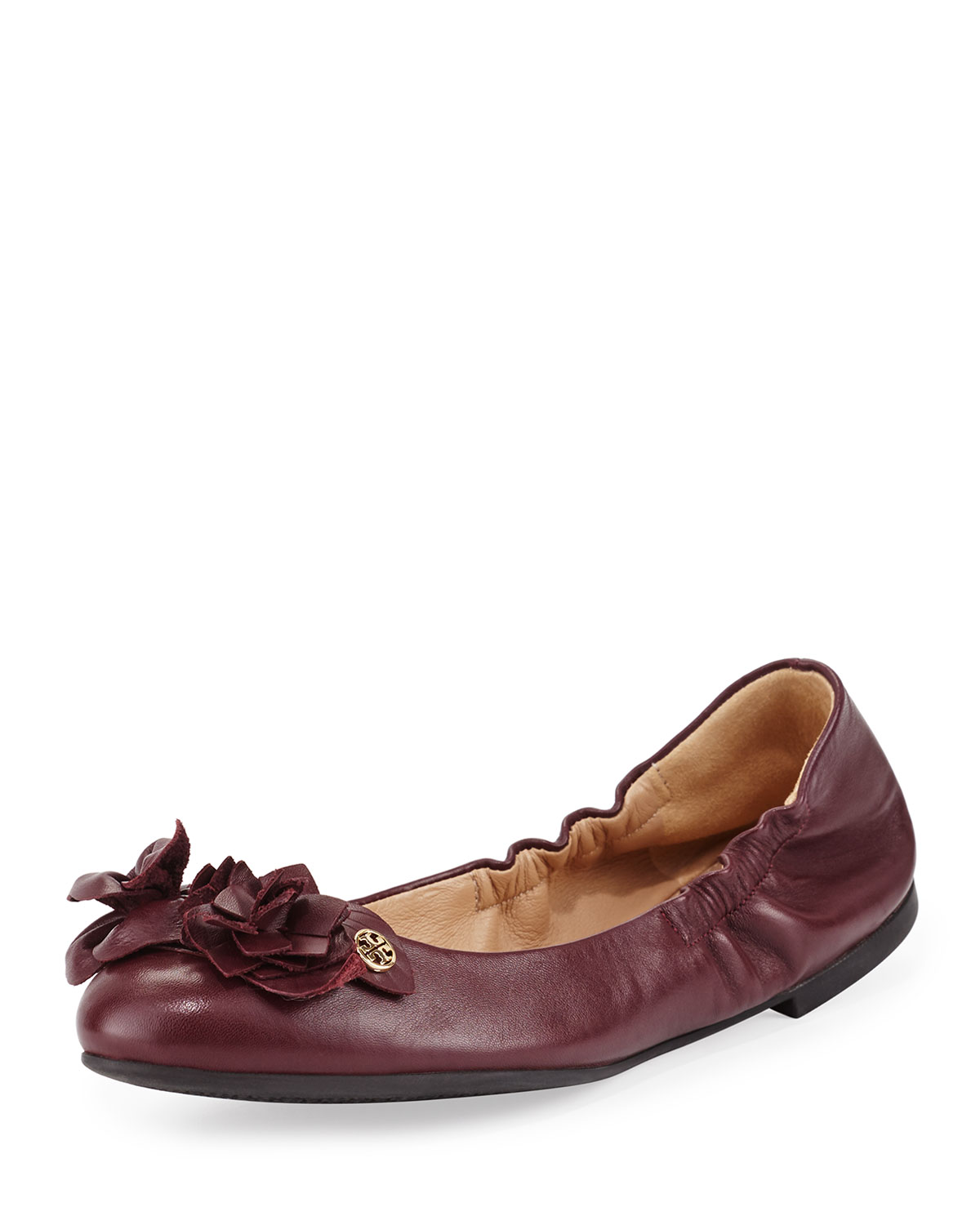 89736f0caa9 Tory Burch Blossom Leather Ballet Flat