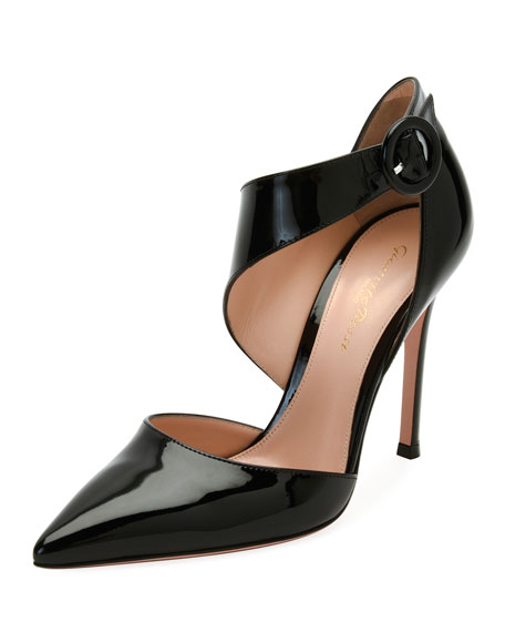 Gianvito Rossi Patent Asymmetric Pointed-Toe Pump, Black