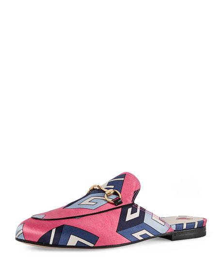 Gucci Geometric Horsebit Mule, Pink