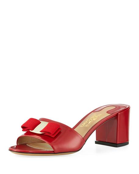 Eolie Bow Slide Sandal, Red