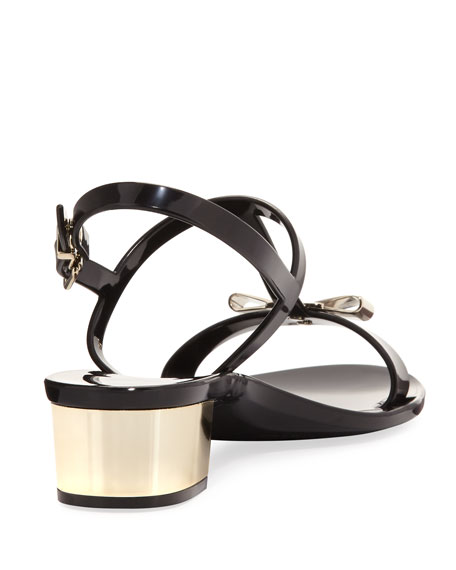 Jelly Flat Sandal, Black