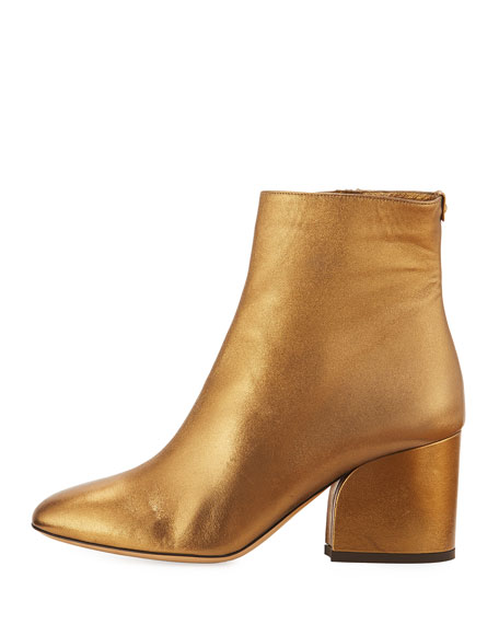 70mm Metallic Leather Bootie