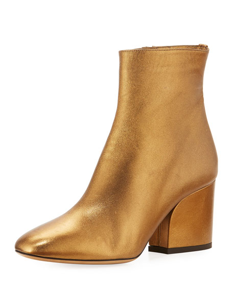 Salvatore Ferragamo 70mm Metallic Leather Bootie