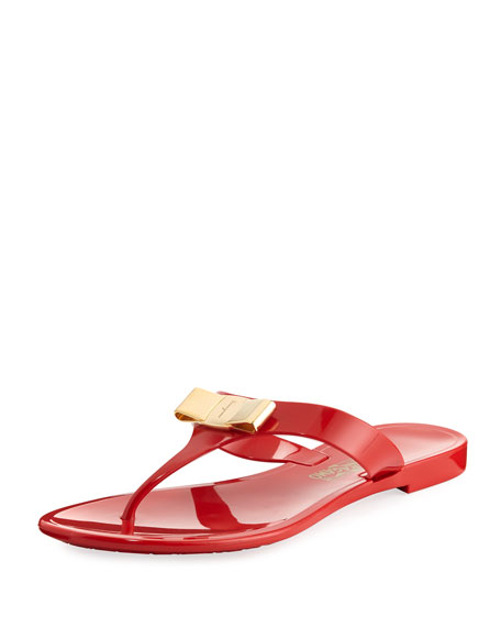 Salvatore Ferragamo Farelia 1 Jelly City Sandal, Red
