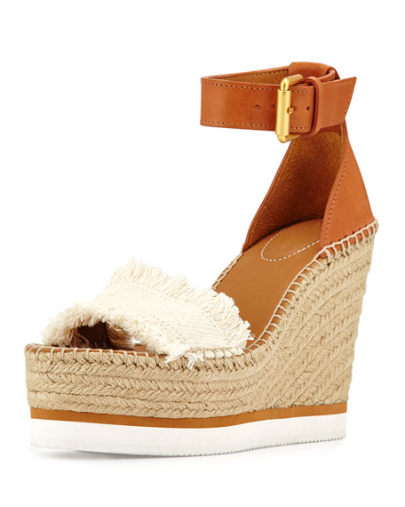 433107d5662 See by Chloe Glyn Canvas   Leather Espadrille Sandal