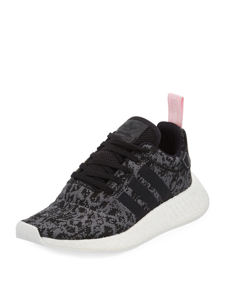 Adidas NMD_R2 Knit Trainer Sneaker, Black