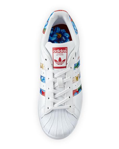 Superstar Multicolor Stripe Sneaker, White