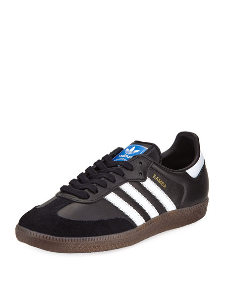 Adidas Samba Classic Leather Sneaker, Black